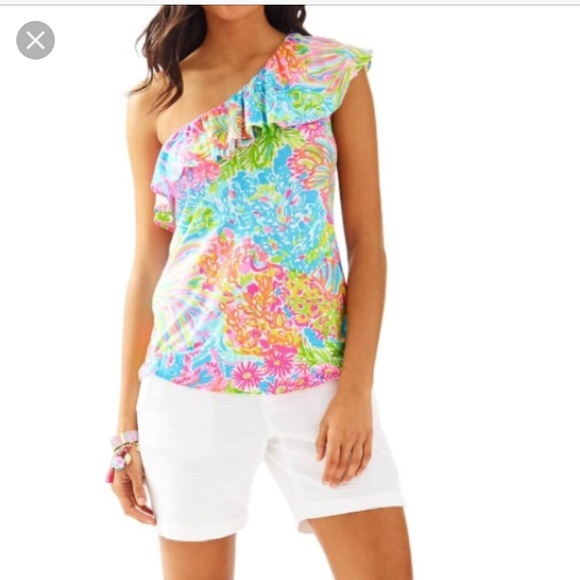 aec5364a8d8 Lilly Pulitzer Tops | Nwt One Shoulder Top | Poshmark